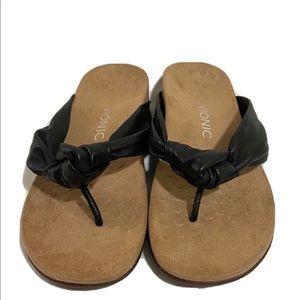 Vionic Women Pippa Sandals Black 7 New Without Box